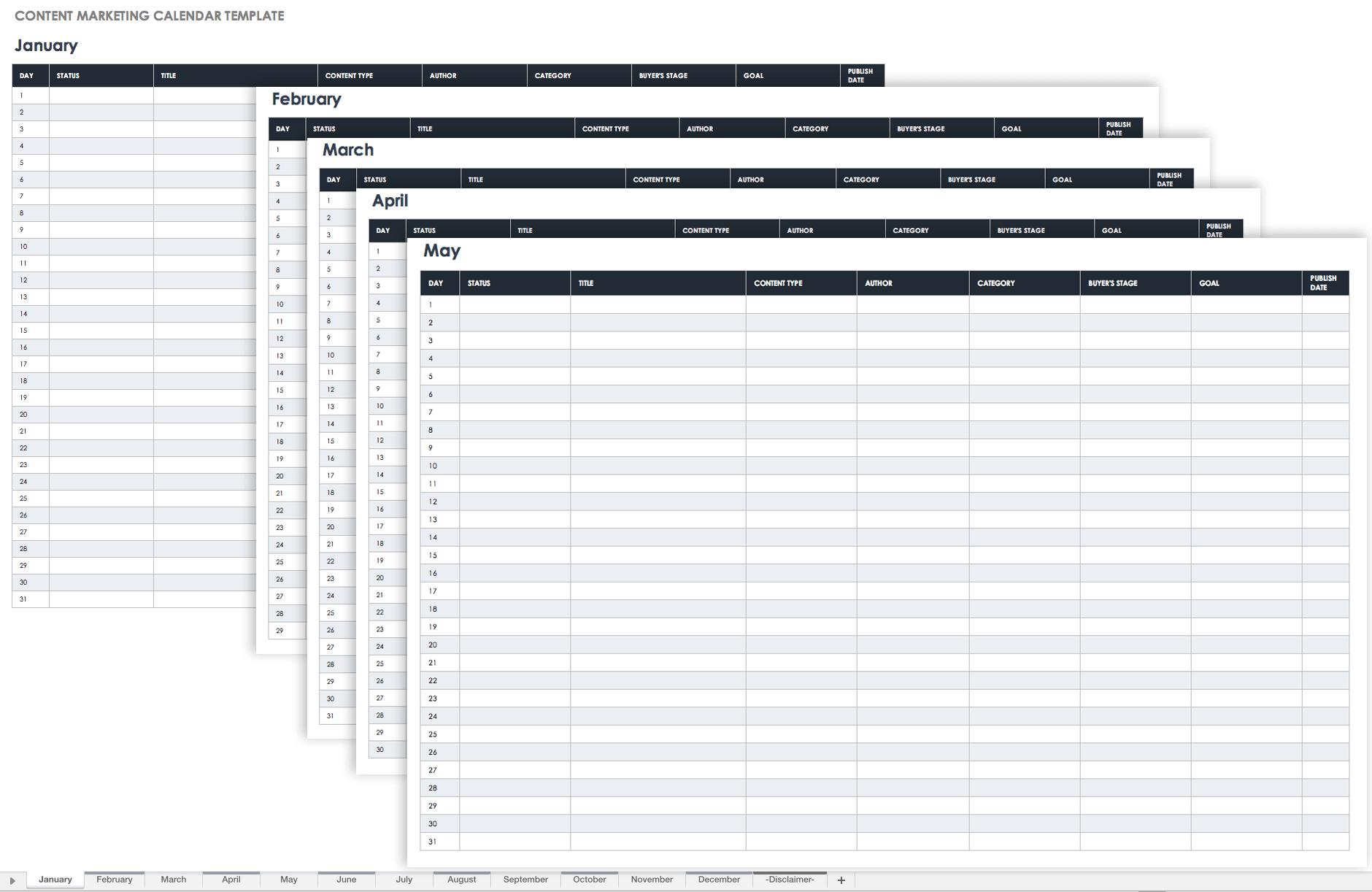 Strange 9 Kostenlose Marketingkalender Excel Vorlagen Smartsheet Inzonedesignstudio Interior Chair Design Inzonedesignstudiocom