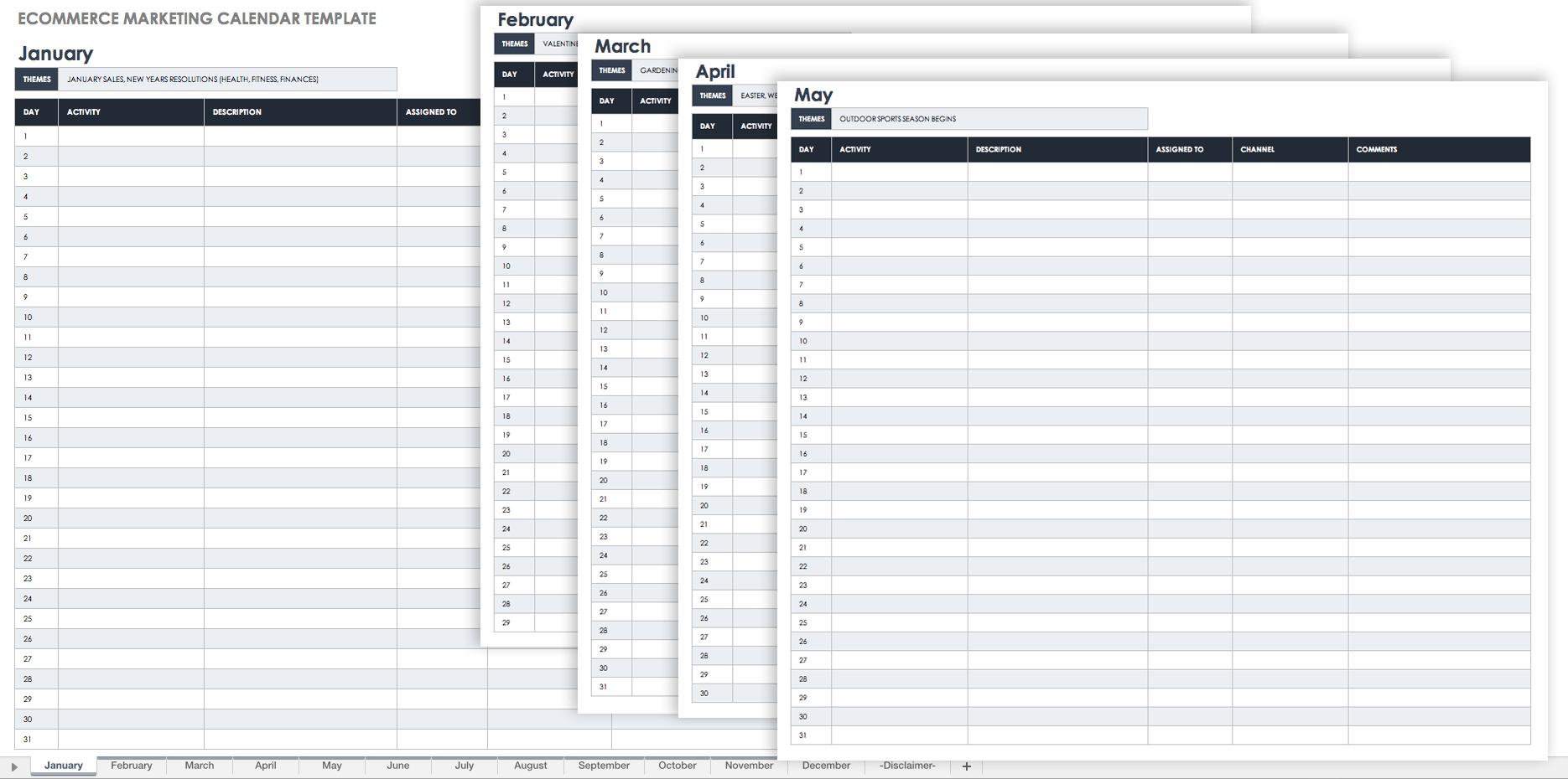 Groovy 9 Kostenlose Marketingkalender Excel Vorlagen Smartsheet Inzonedesignstudio Interior Chair Design Inzonedesignstudiocom