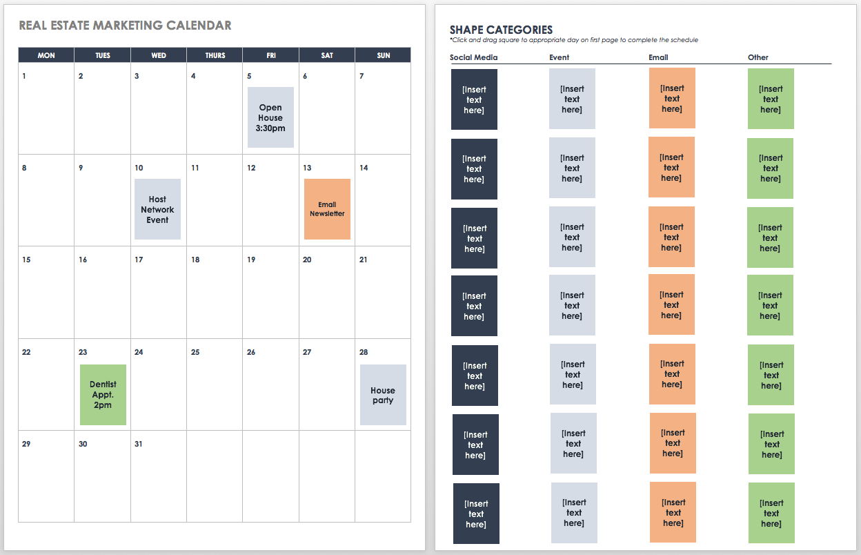 Fantastic 9 Kostenlose Marketingkalender Excel Vorlagen Smartsheet Inzonedesignstudio Interior Chair Design Inzonedesignstudiocom