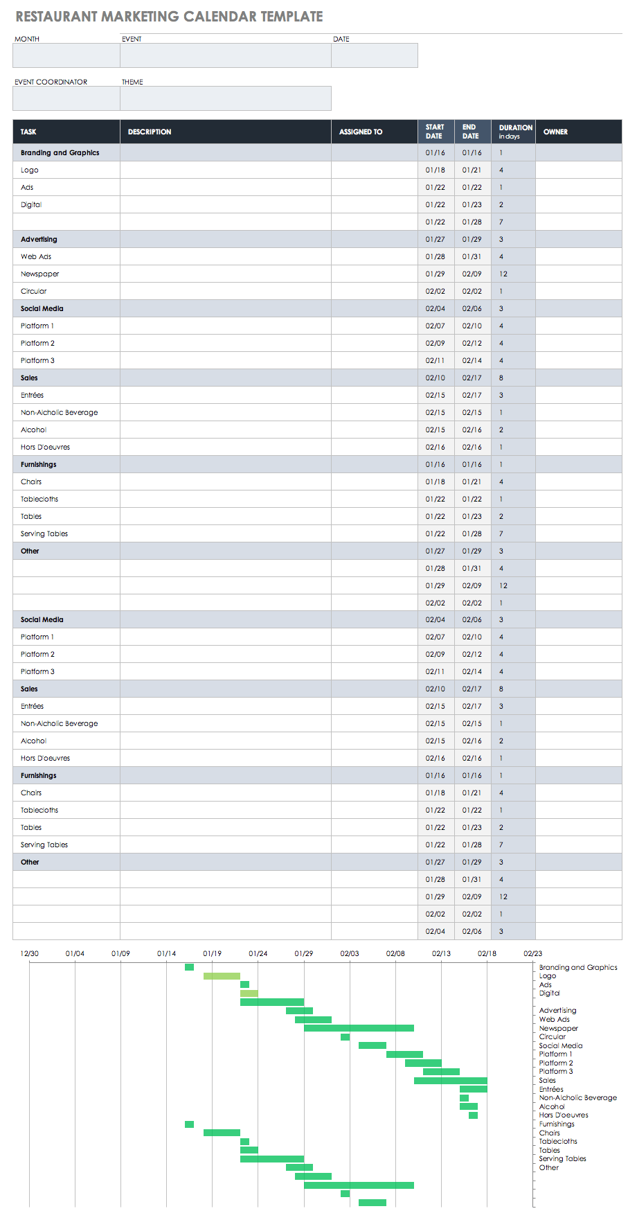 Awe Inspiring 9 Kostenlose Marketingkalender Excel Vorlagen Smartsheet Inzonedesignstudio Interior Chair Design Inzonedesignstudiocom