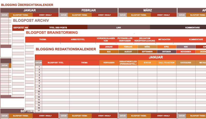 9 kostenlose Marketingkalender Excel Vorlagen - Smartsheet