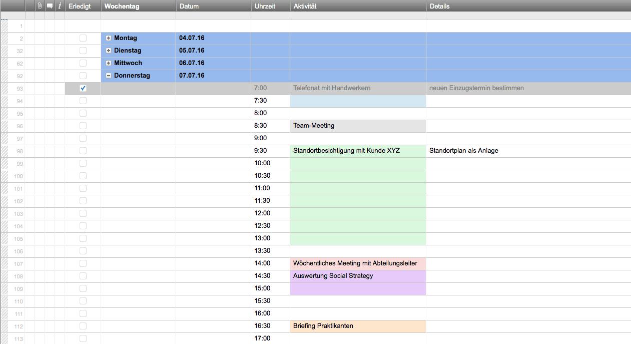 Excel Terminplaner Vorlagen Kostenlos