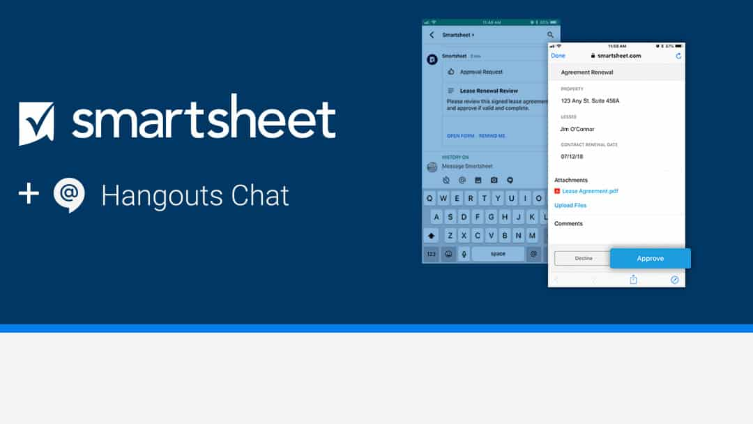 Get More Done With Smartsheet and Google's Hangouts Chat